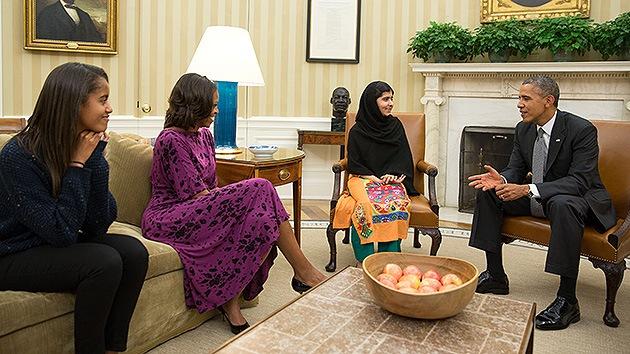 La activista paquistaní Malala Yousafzai pidió a Obama no usar drones