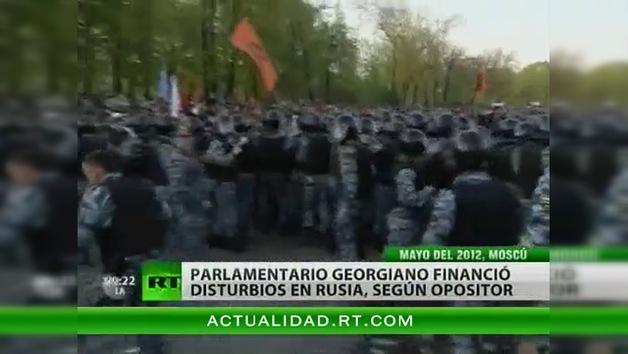Un diputado georgiano financió las manifestaciones de la oposición en Moscú