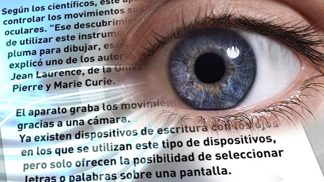 El globo ocular funcionará como pluma para personas con parálisis