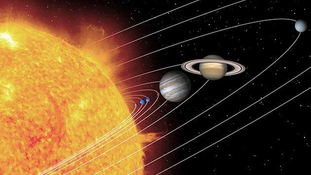 El Sistema Solar como si fuera un mapa de metro