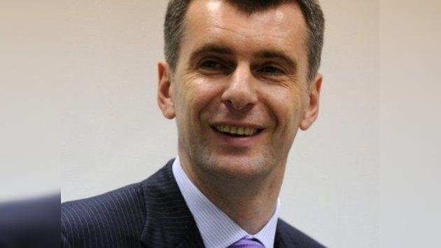 Mijaíl Prójorov a RT: Se debe crear una nueva divisa sobre la base del euro y del rublo