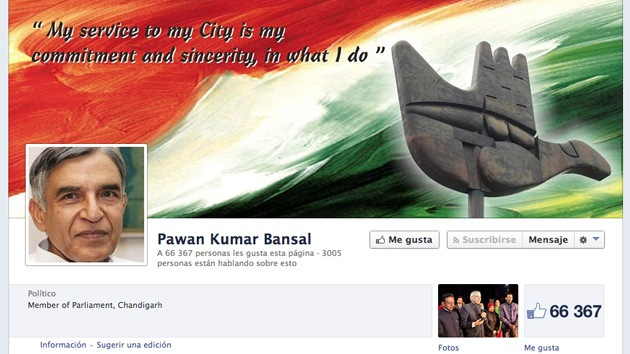 Un exministro indio llama a la Policía por la avalancha de 'me gusta' en su Facebook
