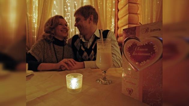Rusia celebra el día de los enamorados