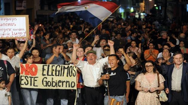 """El gobierno de Paraguay responde a la calle con un discurso """"de intimidación"""""""