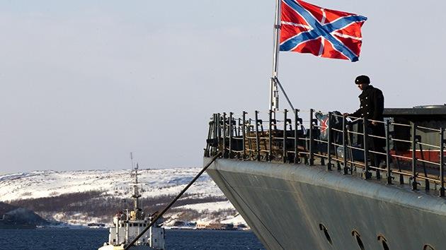 Buques rusos zarpan rumbo a las fronteras de la OTAN, en el noroeste del Atlántico