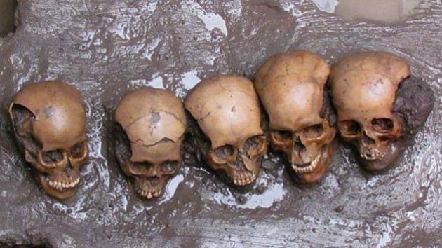 Arqueólogos hallan en México 150 cráneos milenarios de víctimas de sacrificios