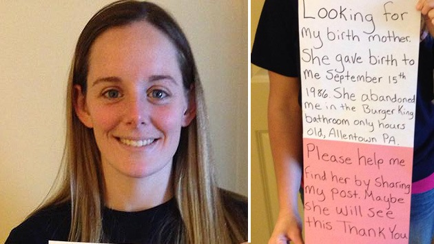Busca en Facebook a su madre tras ser abandonada hace 27 años en un Burger King