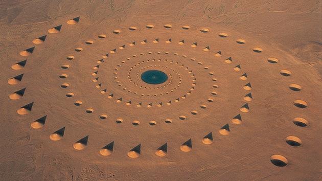 Fotos: ¿Qué es esta extraña espiral en medio del desierto?