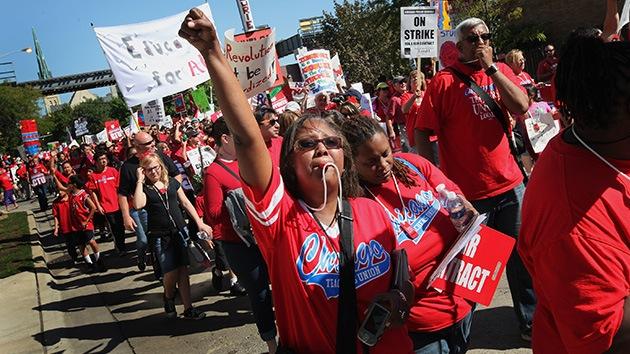 La huelga de maestros de Chicago deja a 400.000 estudiantes sin clase