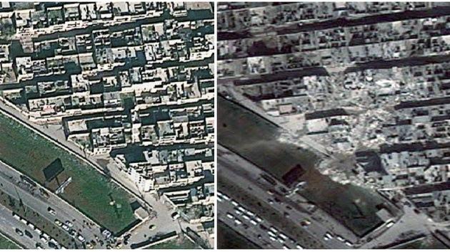 Fotos: El daño causado por la guerra en Siria se ve desde el espacio