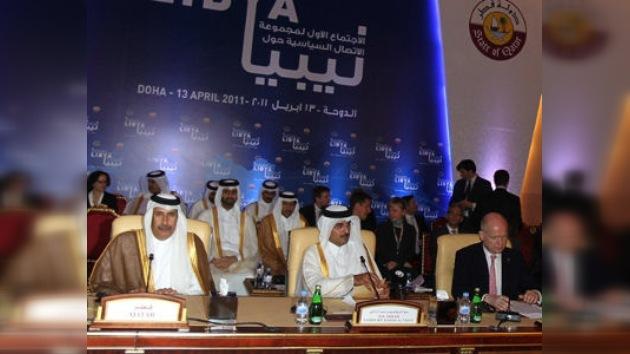 Promotores Grupo de Contacto para Libia piden dinero y armas para insurrectos