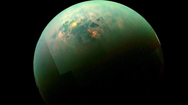 Increíble imagen publicada por la NASA muestra el sol reflejado en los mares de Titán