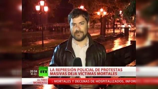 Un corresponsal de RT resulta herido durante una dispersión de protestas en Georgia
