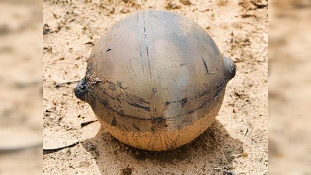 Misterio redondo: una extraña esfera de metal cae sobre Namibia