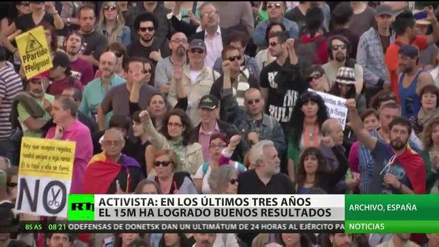 El 15M vuelve a las calles para conmemorar su tercer aniversario