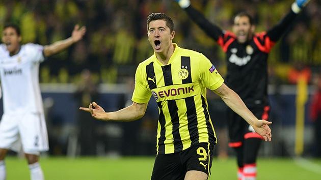 Lewandowski 'se merienda' al Real Madrid con 4 goles y acerca al Dortmund a la final