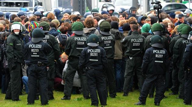 Detenidos 400 activistas de 'Blockupy' en Alemania