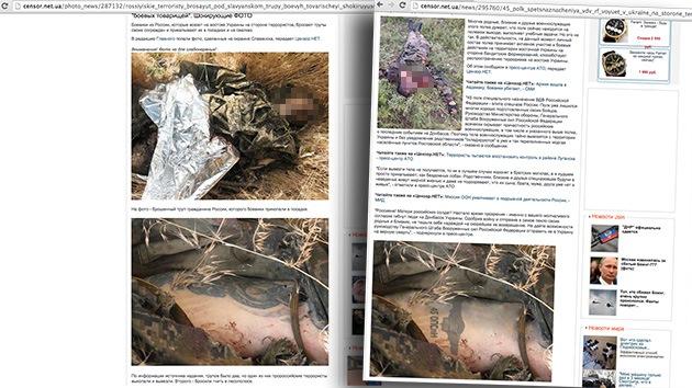 Medio ucraniano aplica Photoshop a la imagen de un cadáver para manipular noticia