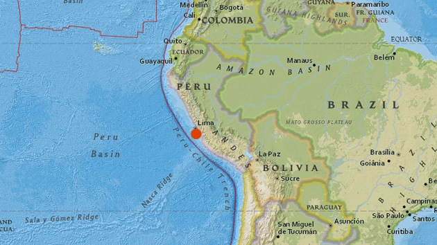 Un sismo de magnitud 5,4 sacude Lima