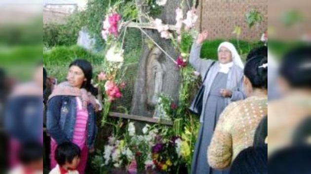 La imagen de la Virgen María aparece en Perú
