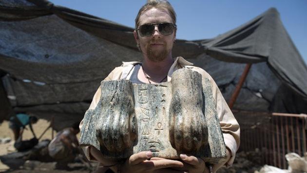 Hallan la primera y hasta ahora única esfinge egipcia en Israel