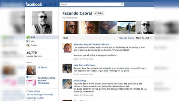 Convocada por Facebook una concentración en Guatemala para condenar el crimen de Cabral