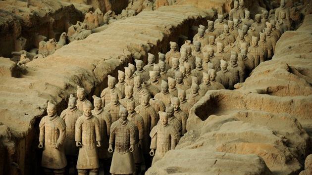 Descubren un palacio dentro de la tumba de guerreros de terracota en China