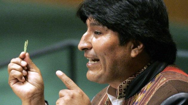 Exportación de coca, nueva ambición de Morales en la ONU