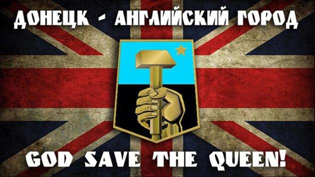 ¿Es Donetsk británico? Los ucranianos votan en un referéndum de broma si se unen al Reino Unido