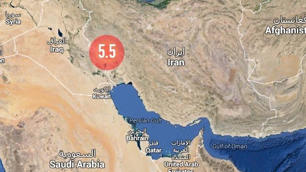 Un sismo de magnitud 5,5 se registra en la frontera entre Irán e Irak