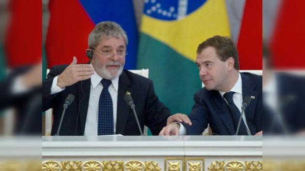 Medvédev y Lula debatieron la situación en torno de Irán