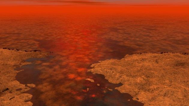 Un objeto extraño en un lago de la mayor luna de Saturno mantiene en vilo a los científicos