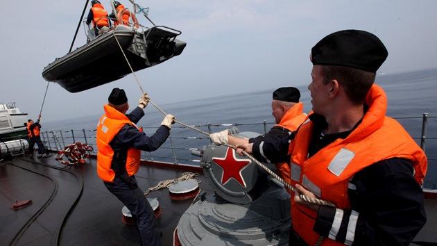 La Armada rusa realiza simulacros antiterroristas y de rescate en Oriente Lejano