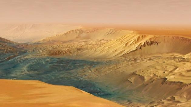 El gran cañón del 'planeta colorado', a vista de sonda espacial