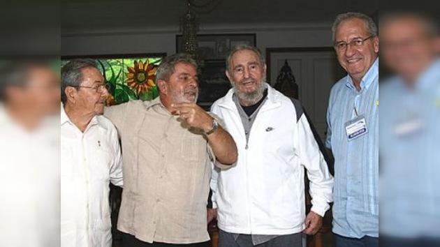 "Lula da Silva: ""Fidel Castro se encuentra excepcionalmente bien"""