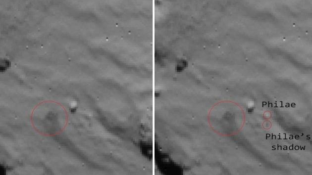 Publican primeras imágenes del aterrizaje final del Philae en Churiúmov-Guerasimenko