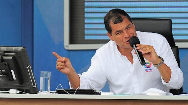 'The Guardian' se enreda con Correa: pone en su boca frases sobre Snowden que no dijo