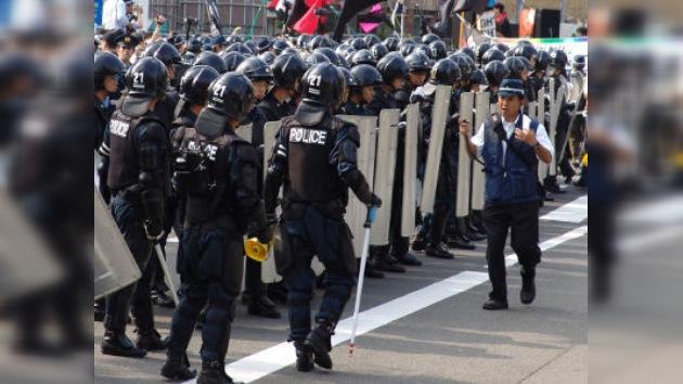 Disturbios antiglobalización en el centro de Ginebra