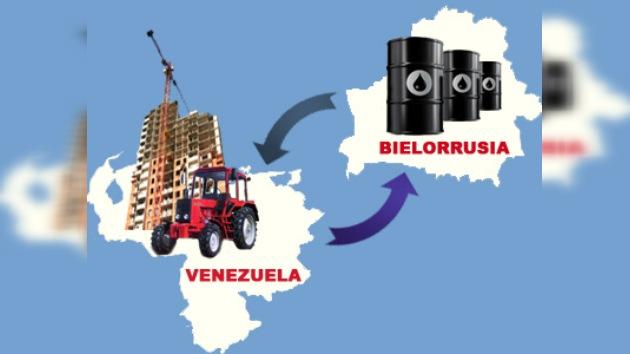 Viviendas y tractores bielorrusos a cambio de petróleo venezolano