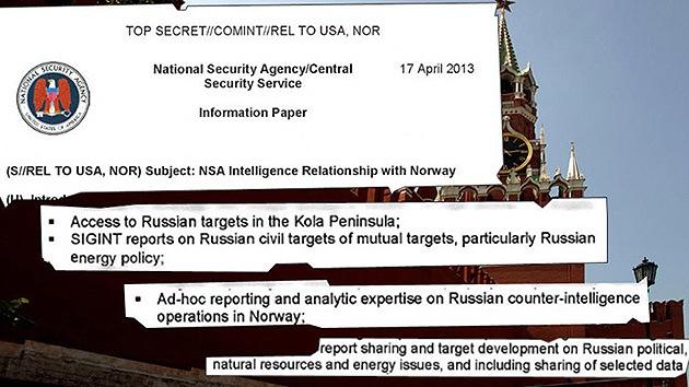 Noruega espia a Rusia para la NSA