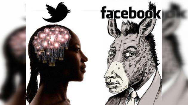 Los usuarios de Twitter son más cultos y más ricos que los de Facebook