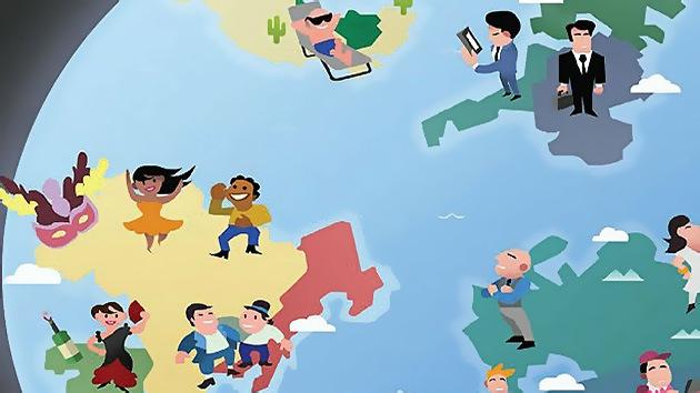 Mapamundi de estereotipos: ¿Cómo vemos nuestros propios países y los de los demás?