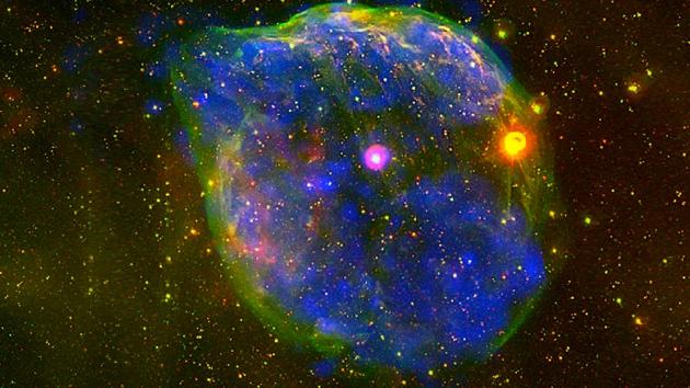 Halloween espaço Joke: encontrar um rosto fantasmagórico no cosmos