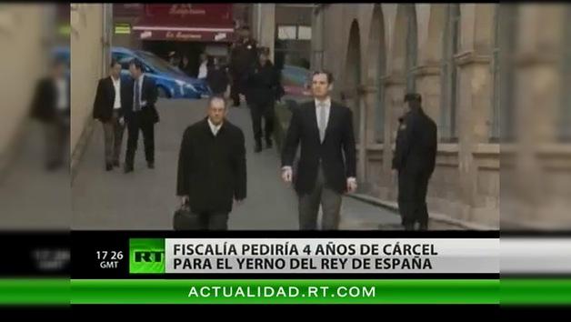Fiscalía pediría 4 años de cárcel para el yerno del rey de España
