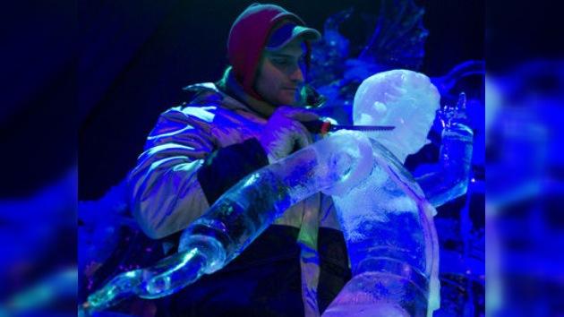 El hielo de Moscú hecho arte