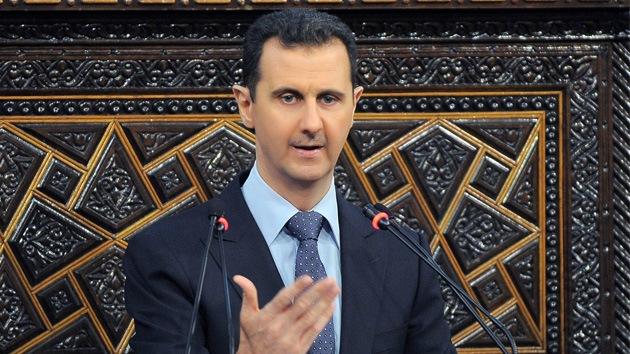 Assad: EE.UU. encubre la acción subversiva contra Siria