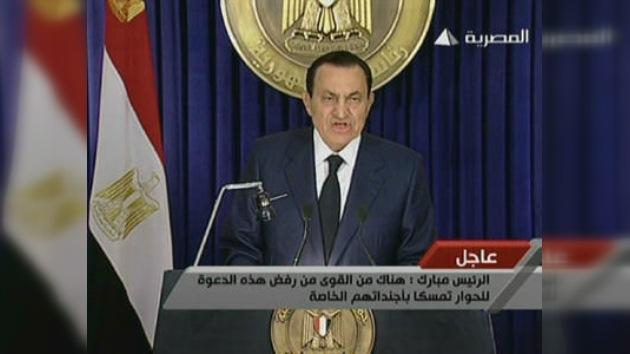 Hosni Mubarak no dimite, pero dice que es su último mandato
