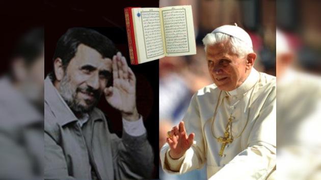 Ahmadineyad agradece al Papa que condenara los planes de quemar el Corán