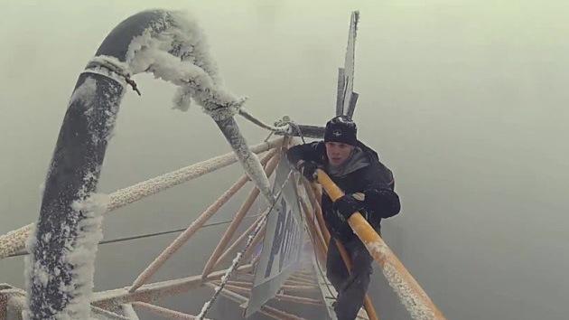 Video y fotos: Escalofriante ascensión al techo de Moscú
