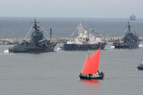Rusia festeja el Día de la Marina a bombo y platillo